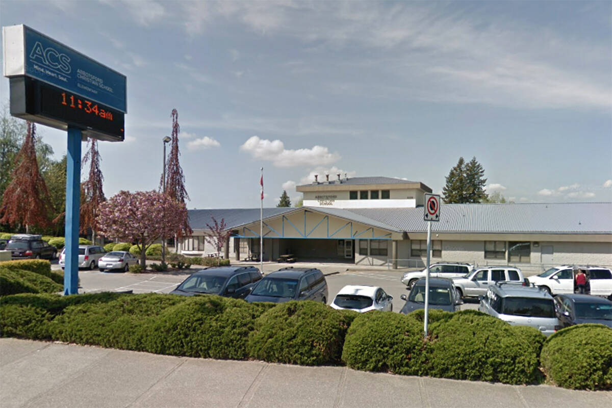 The elementary campus of Abbotsford Christian School has moved to remote learning from Sept. 28 to Oct. 1 due to some COVID-19 cases. (Google Street View)