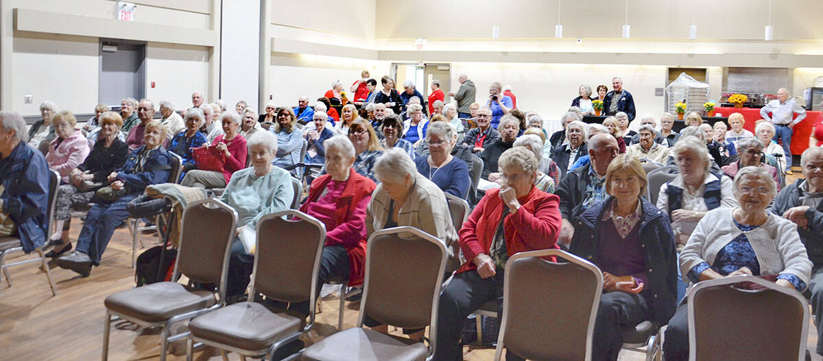 The Langley Seniors Resource Centre celebrated the UN International Day of Older Persons with live entertainment back in 2019. COVID forced the cancellation of the 2020 event. For 2021, there's a pie social following COVID safety protocols. (Langley Advance Times files)