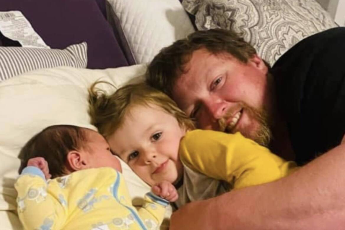Beloved husband, father, son, brother, and friend to all, Cowichan farmer Josh Mellor has died after a battle with COVID-19. He was 39. (Submitted by Miranda Mellor)