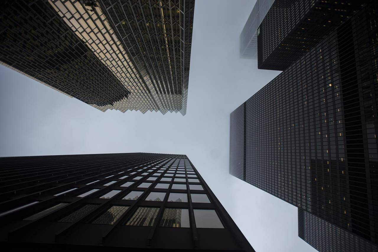 Office towers are photographed in Toronto's financial district on Wednesday, June 27, 2018. THE CANADIAN PRESS/ Tijana Martin