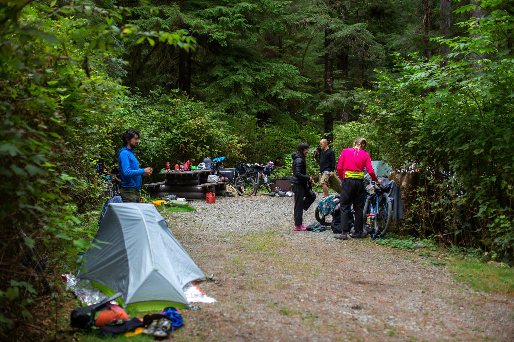 Bikepacking is a mix of lightweight backpacking and bicycle touring. Photo courtesy Miles Arbor