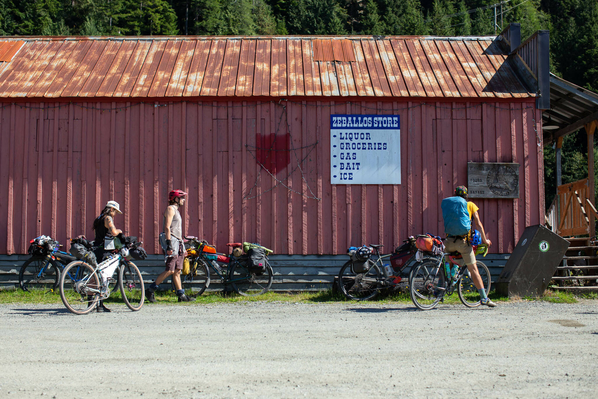 The route visits multiple small towns including Zeballos on the north Island. Photo courtesy Miles Arbor