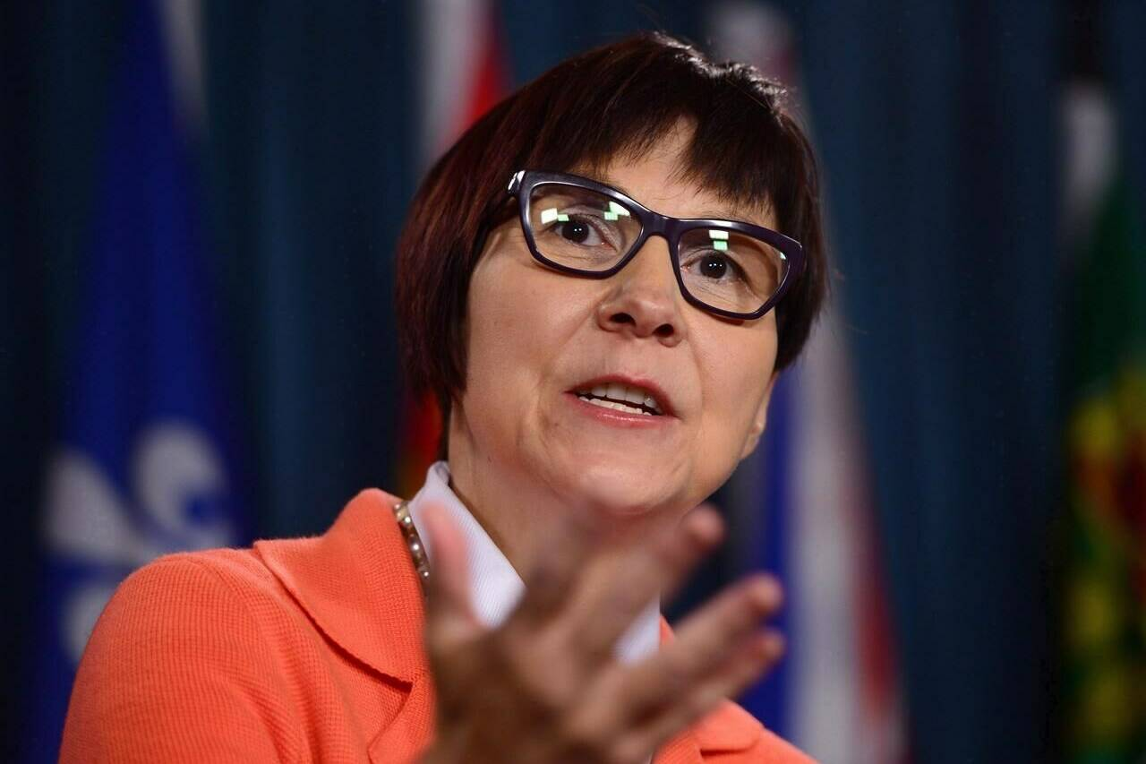 Cindy Blackstock, Executive Director of First Nations Child and Family Caring Society holds a press conference on Parliament Hill in Ottawa on September 15, 2016. THE CANADIAN PRESS/Sean Kilpatrick