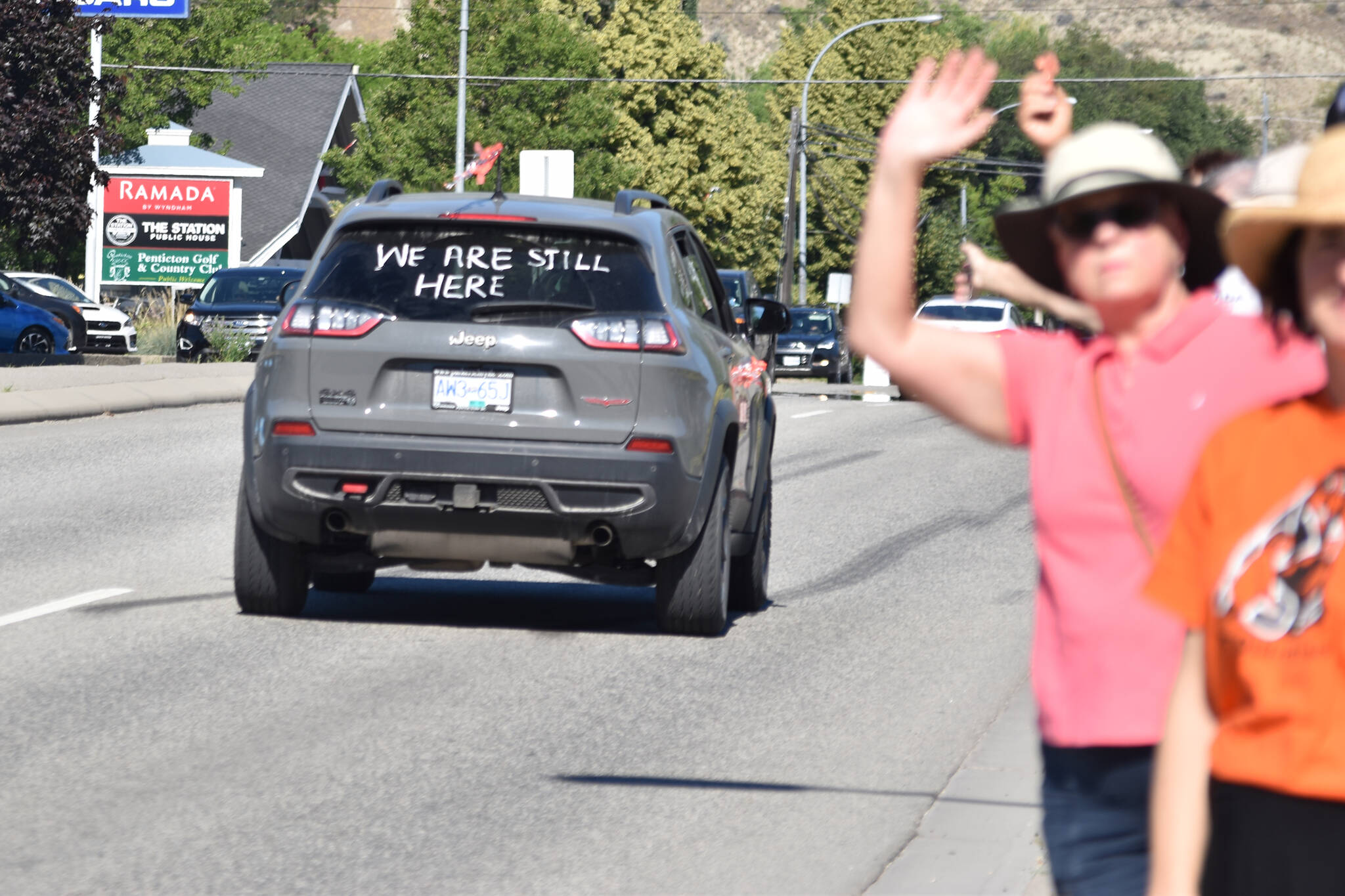 The For the Children Caravan, made up of members of the Syilx Okanagan Nation Alliance's constituent First Nations, including the Lower Similkameen Indian Band, departed from Penticton on June 30 to head to the site of the Kamloops Residential School where 215 children's bodies were uncovered. (Brennan Phillips - Western News)