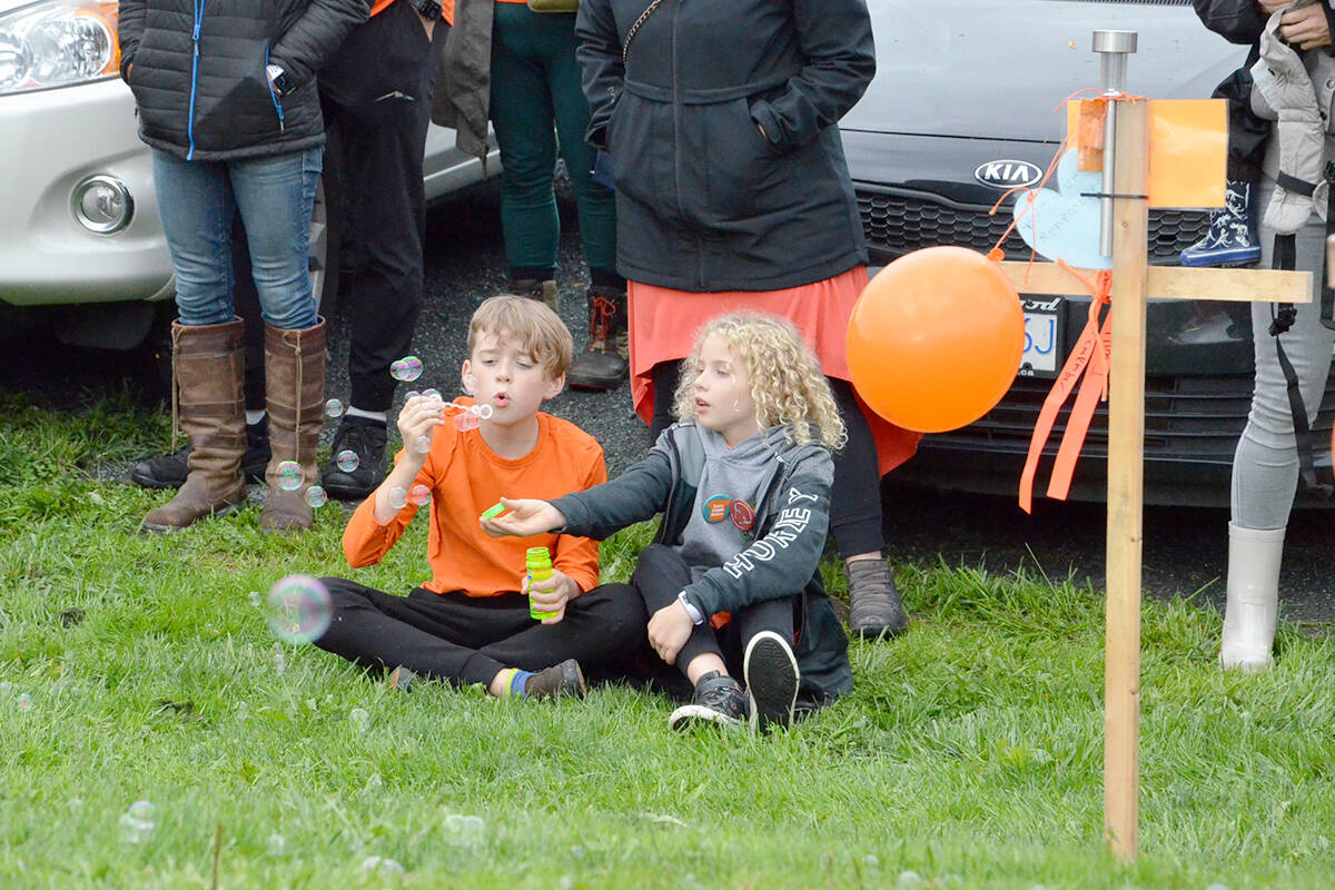 Bubbles, provided by organizers and were blown by children in the crowd at the community event for National Day of Truth and Reconciliation Sept. 30 in Langley. (Heather Colpitts/Langley Advance Times)