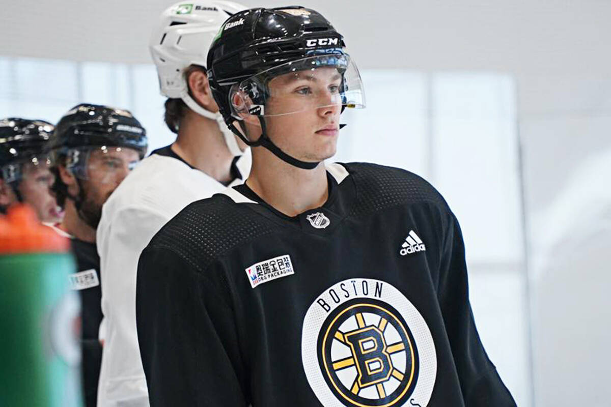 Fabian Lysell is joining the Vancouver Giants. (Photo Boston Bruins)