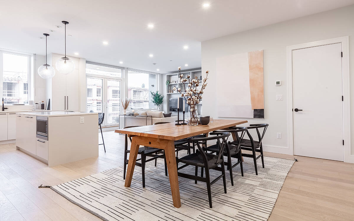 Cross laminated timber construction at the Legacy on Park Avenue allows for spacious living spaces without pillars or walls.