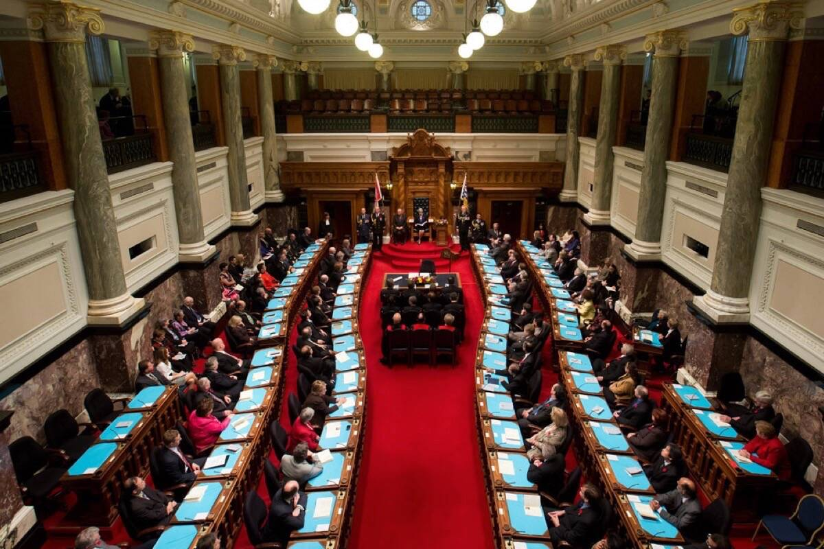 The B.C. legislature has been called into session for Oct. 4. (Black Press files)