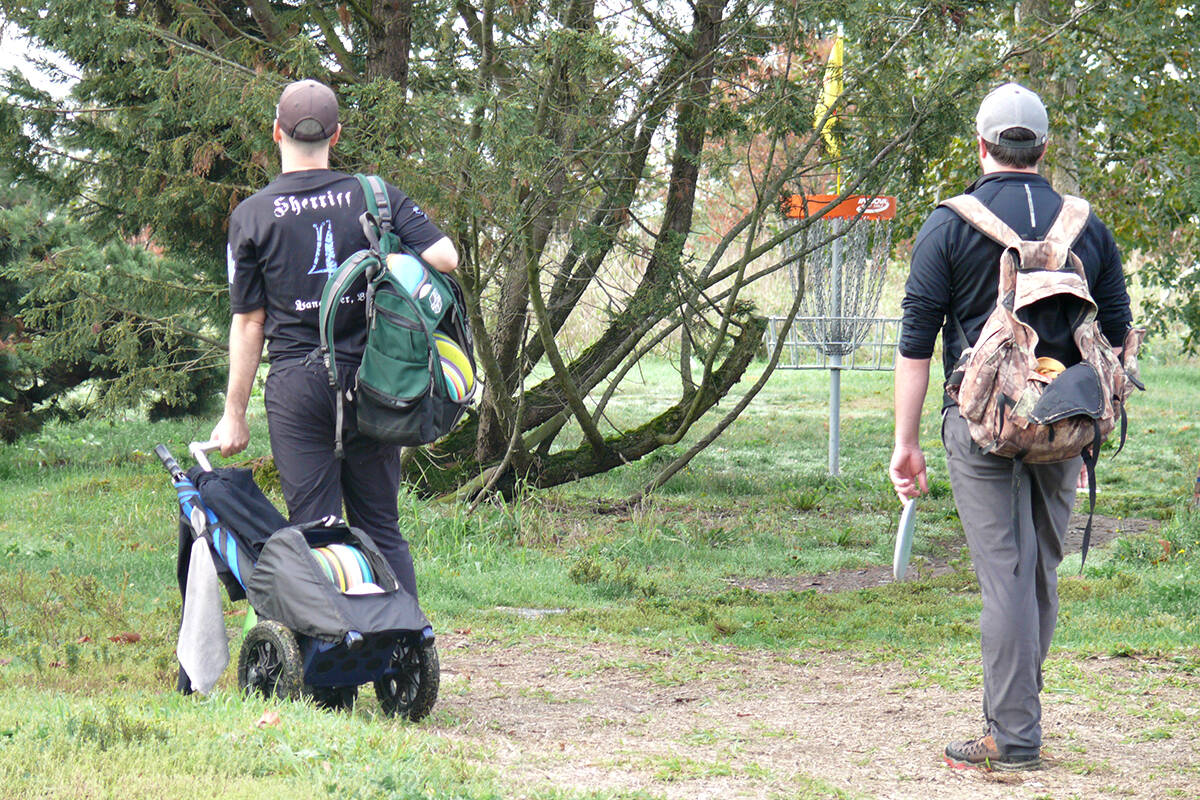 About 150 players took part in the Raptors Knoll Disc Golf Club tournament over the Oct. 2-3 weekend. (Dan Ferguson/Langley Advance Times)