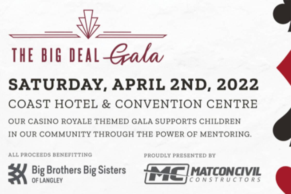 Big Brothers Big Sisters Langley gala has been postponed until April 2022. (Big Brothers Big Sisters Langley screen grab)