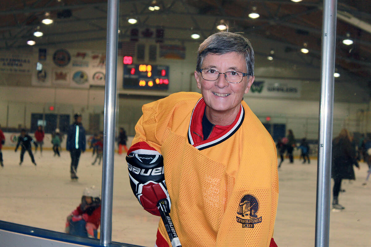 White Rock resident Sue Rittinger is looking to expand the women's 45+ hockey league she started last year. (Contributed photo)