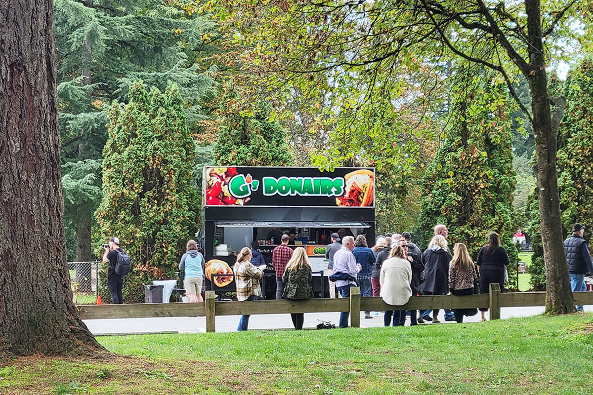 Food trucks were serving at the the Fort Langley Beer and Food Festival on Saturday, Oct. 2. (Dan Ferguson/Langley Advance Times)