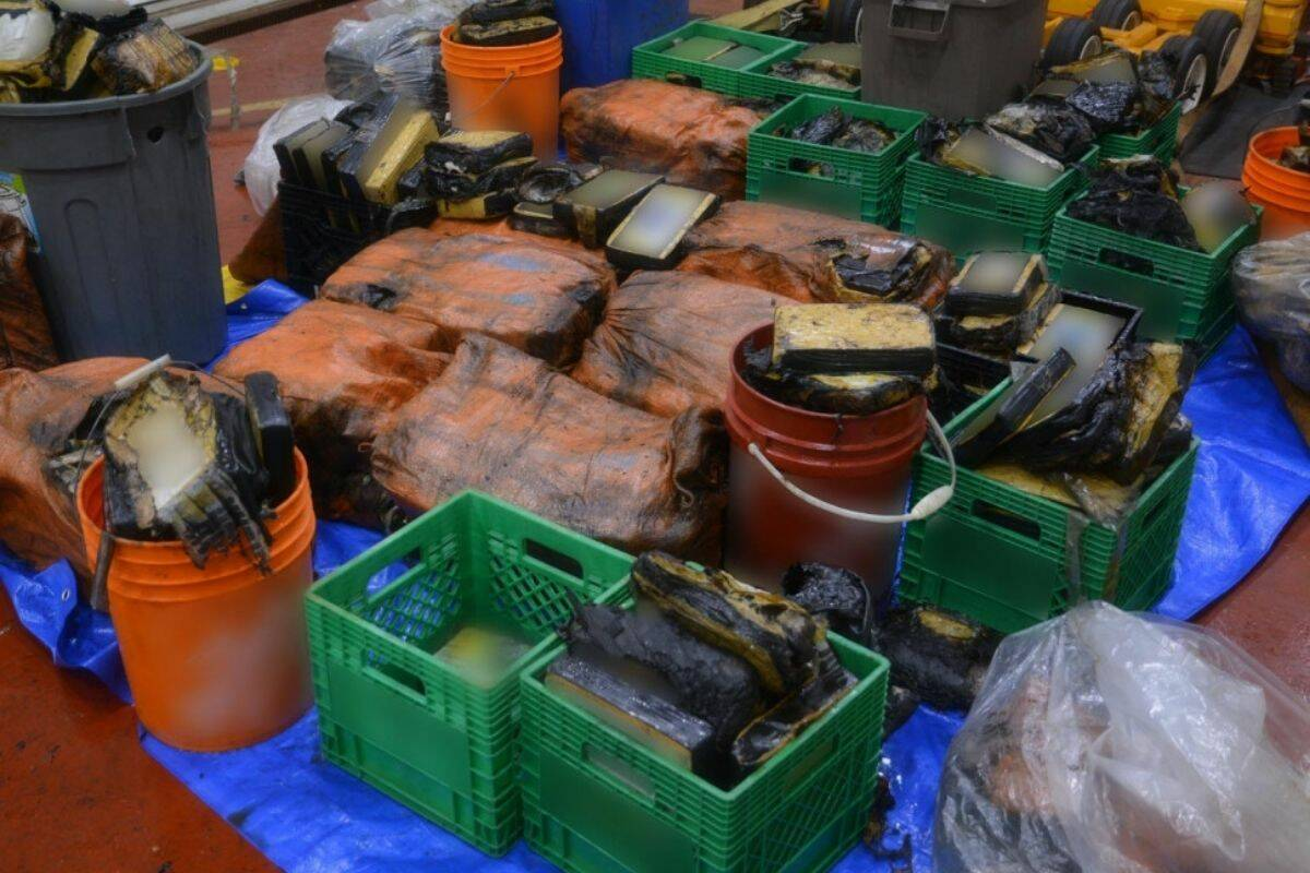 A photo of the drugs seized on the sailboat that was caught off the coast of Nova Scotia. (Photo: RCMP)
