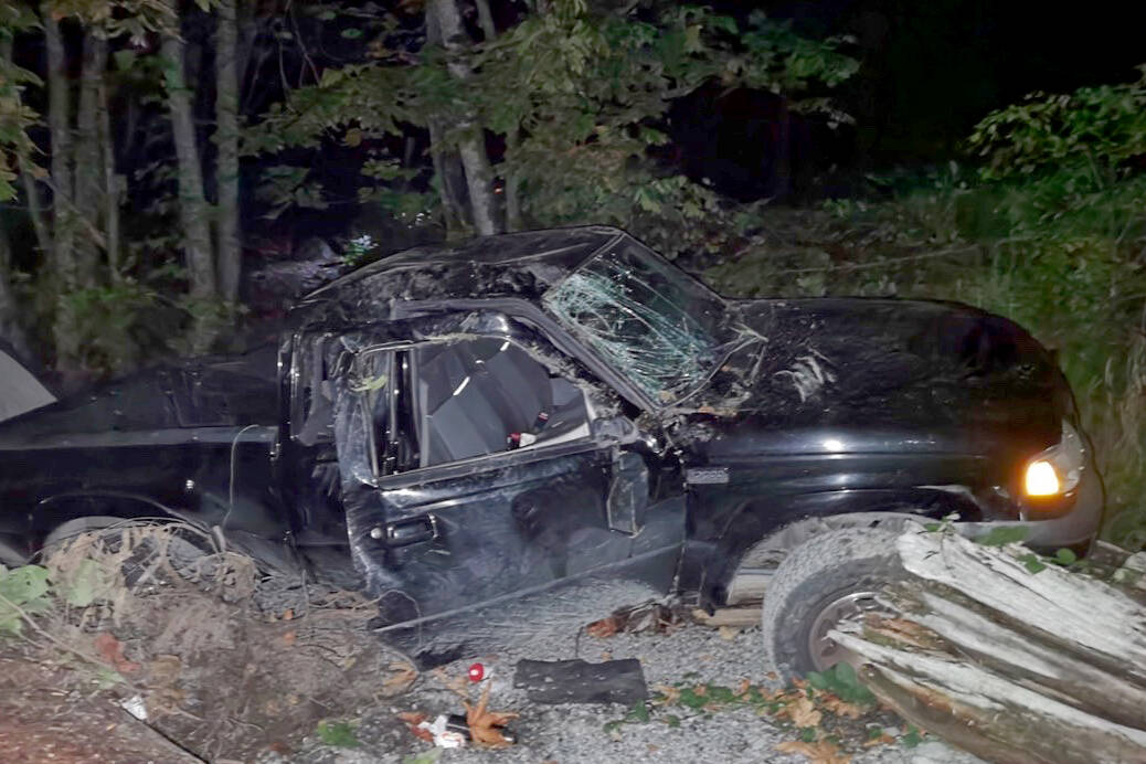 A family of three camping off of East Harrison Forest Service Road were nearly killed when a truck crashed in from the road, coming to a stop a few feet away from their tent. (Photo/Michelle Labor)