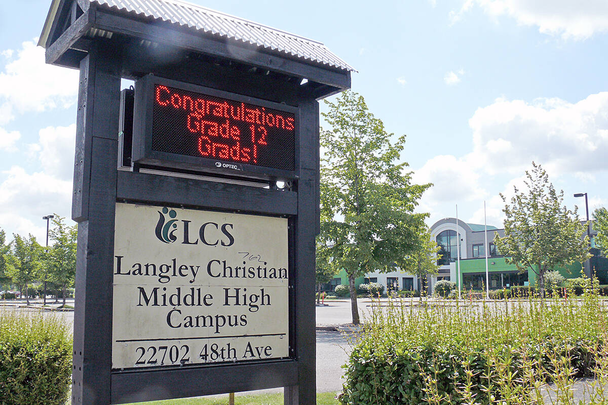 Grade 6 students at Langley Christian had to go home until Oct. 10 because of a number of cases in the school. (Langley Advance Times files)