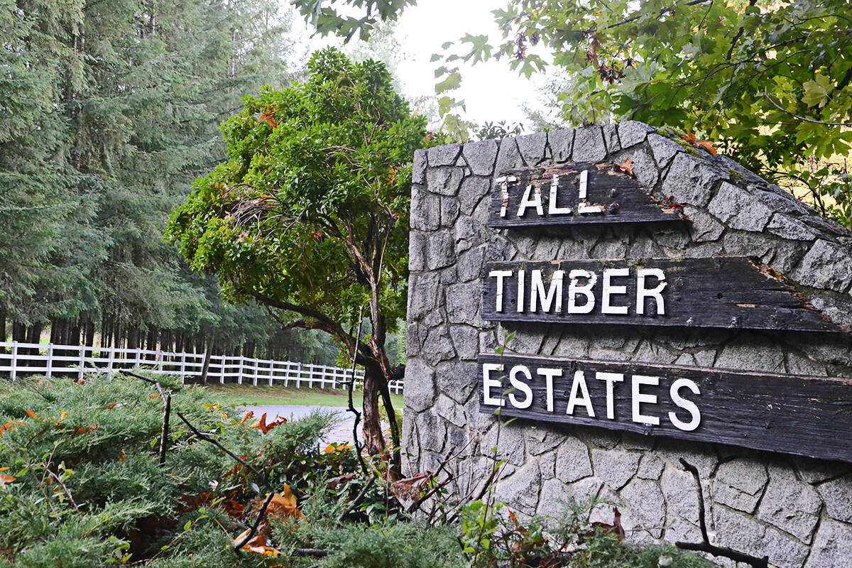 The current Tall Timber estates was built in the 1980s. A new adjacent development is now planned for acre lots. (Matthew Claxton/Langley Advance Times)