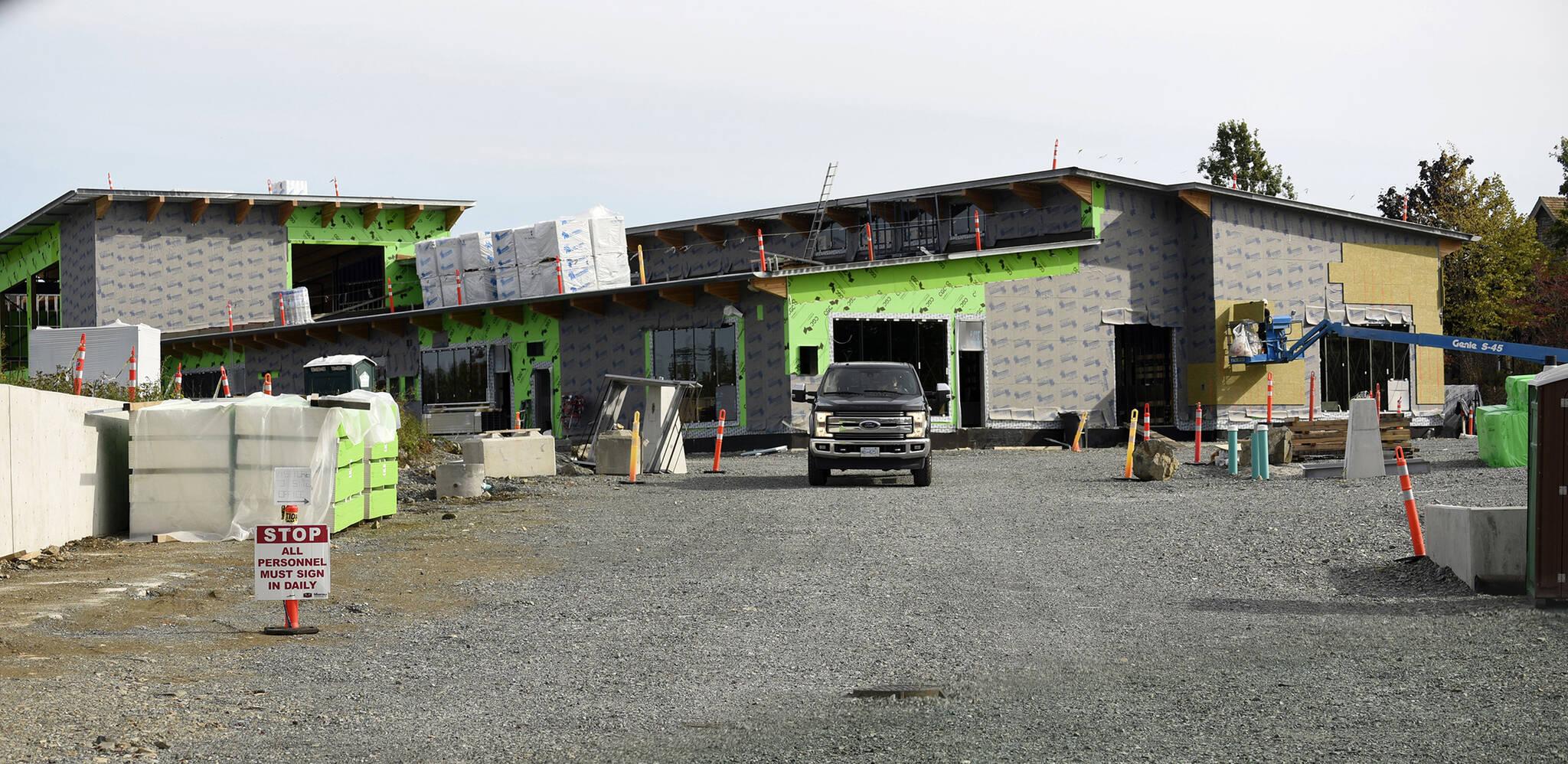 The new school will open in September 2022. (John Morrow/Abbotsford News)