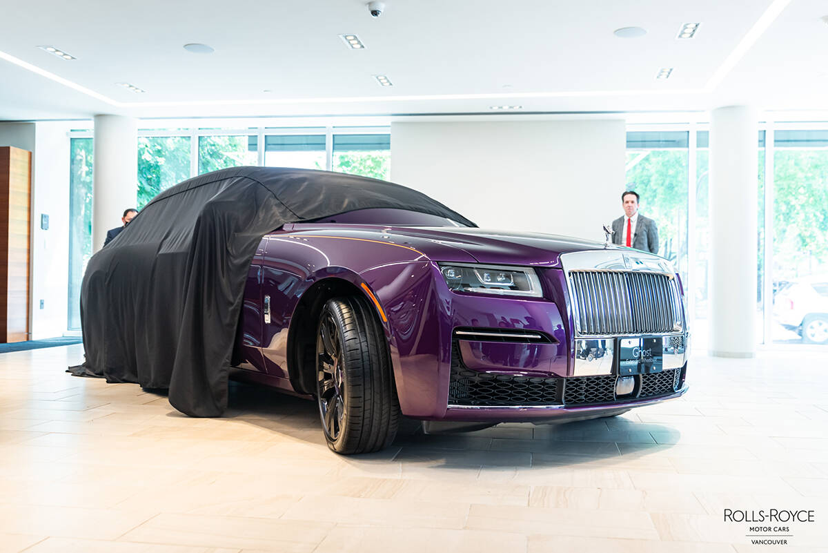 Having made its official debut in July 2021, the Ghost is the most technologically advanced and the most successful Rolls-Royce model thus far in the company's storied 116-year history. Alfonso Arnold photo