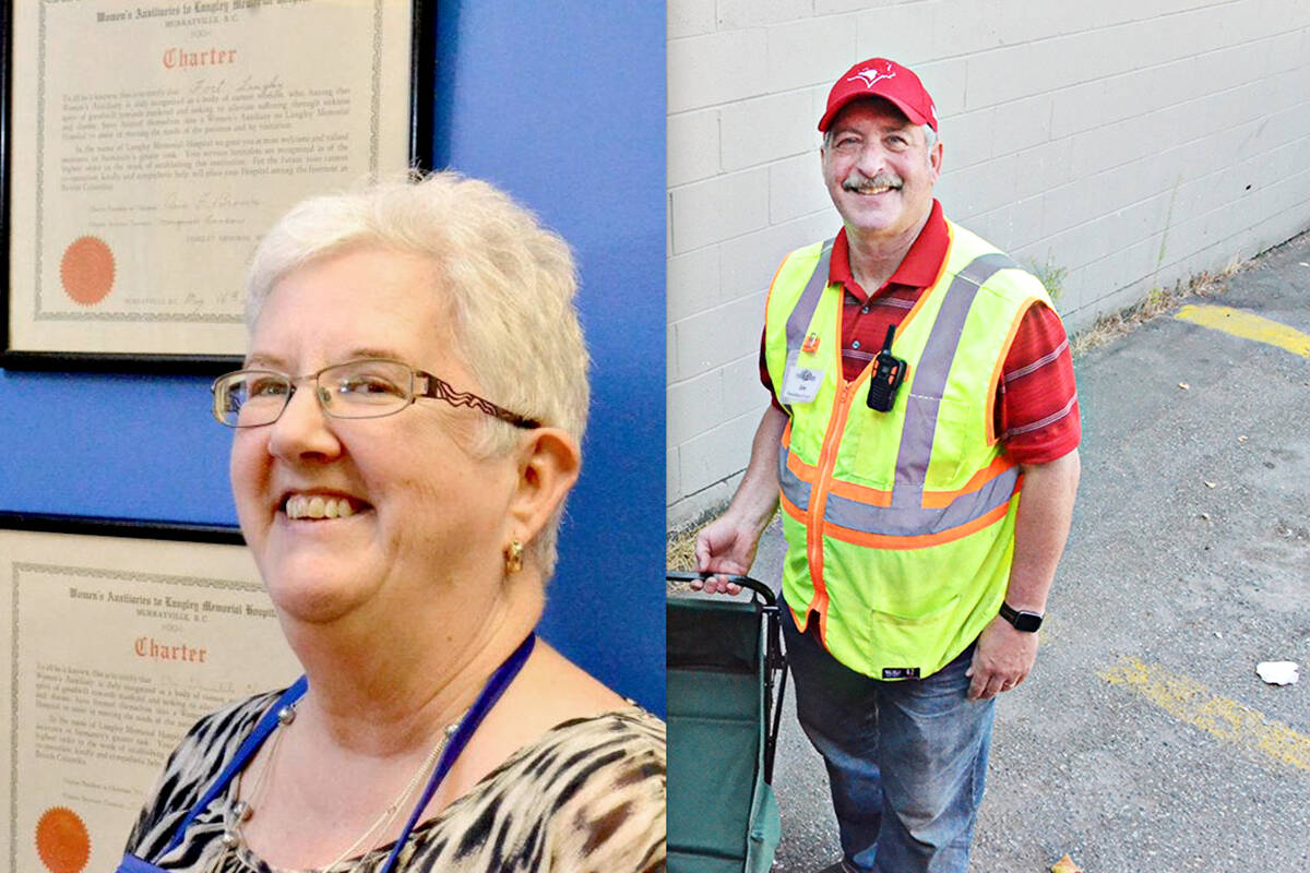 Langley Hospital Auxiliary past president Diane Thornton and Langley Food Bank executive director Jim Calamunce welcomed a Langley City council decision granting preliminary approval to long-requested tax breaks for their organizations. (Langley Advance Times files)