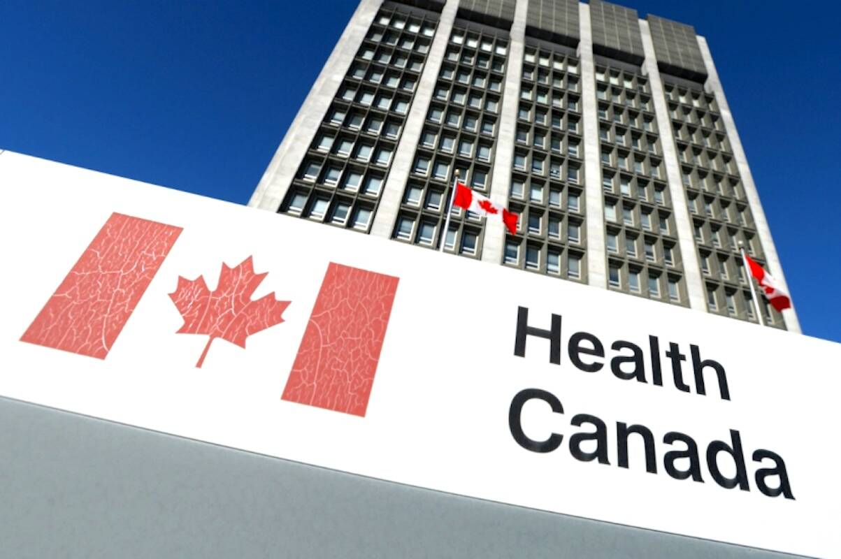 A sign is displayed in front of Health Canada headquarters in Ottawa. (Sean Kilpatrick/The Canadian Press)