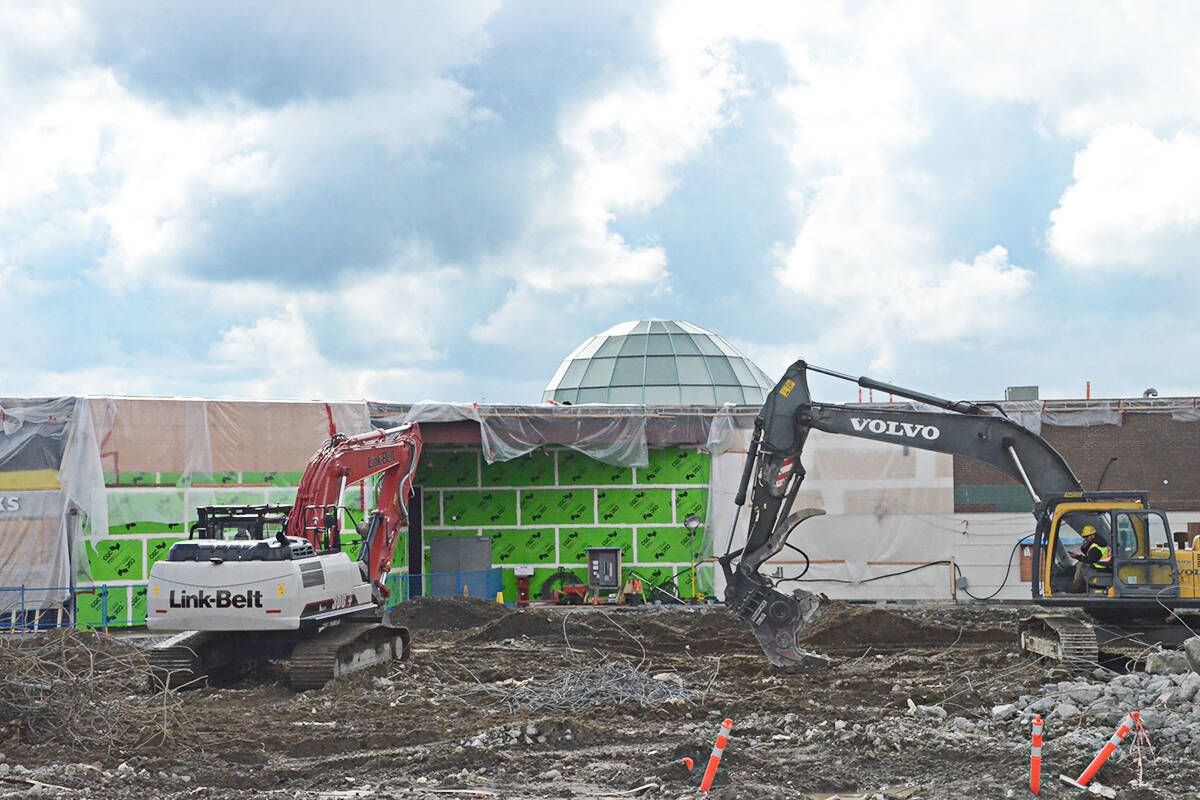 Construction crews are preparing for a new expansion on the north side of Willowbrook Shopping Centre. (Matthew Claxton/Langley Advance Times)