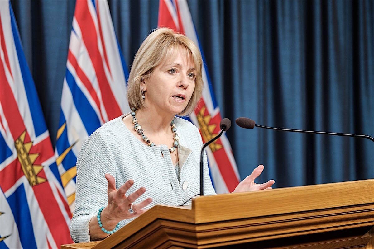 Provincial health officer Dr. Bonnie Henry speaks about B.C.'s COVID-19 pandemic, April 30, 2020. (B.C. government photo)