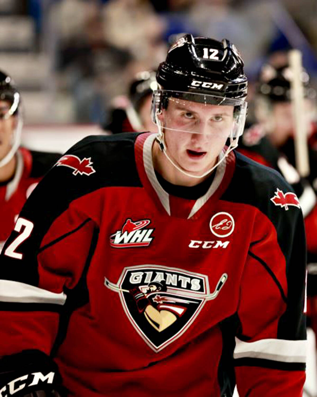 Adam Hall led the Vancouver Giants with a pair of goals, as the team played their first home game in 588 days on Friday, Oct. 8, downing Prince George 6-4. (Rob Wilton/Vancouver Giants/Special to Langley Advance Times)