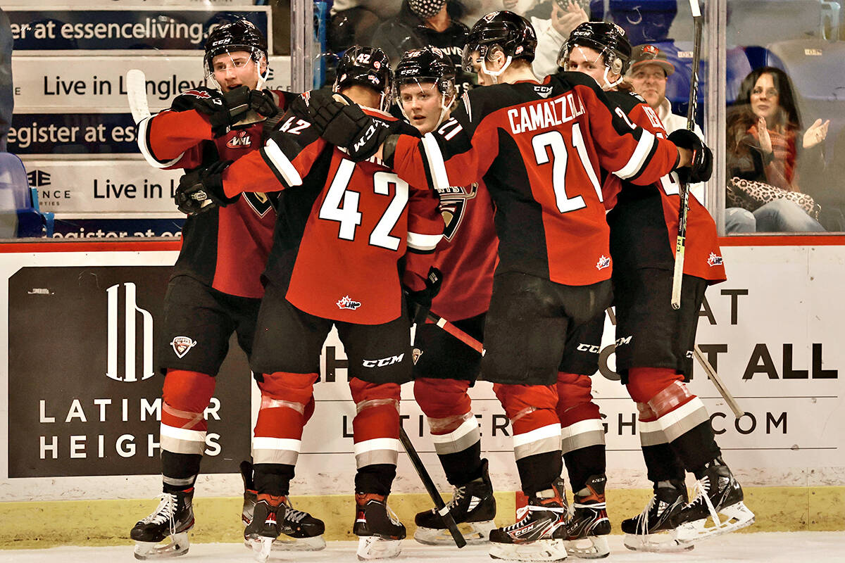 Vancouver Giants played their first home game in 588 days on Friday, Oct. 8, downing Prince George 6-4. (Rob Wilton/Vancouver Giants/Special to Langley Advance Times)