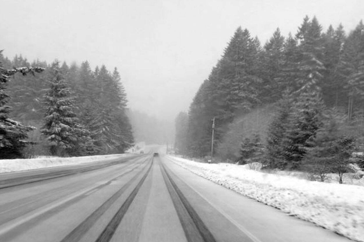 Environment Canada is forecasting up to 15 centimetres of snow on the Coquihalla Highway Sunday (Oct. 10, 2021). (File photo)