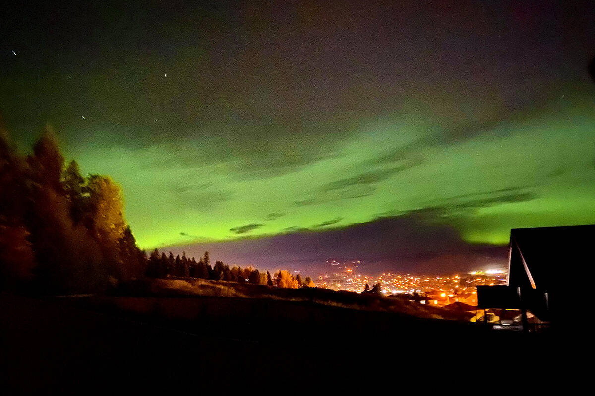 The Northern Lights were out over Williams Lake Thanksgiving night. (Kyle Nuqui photo)