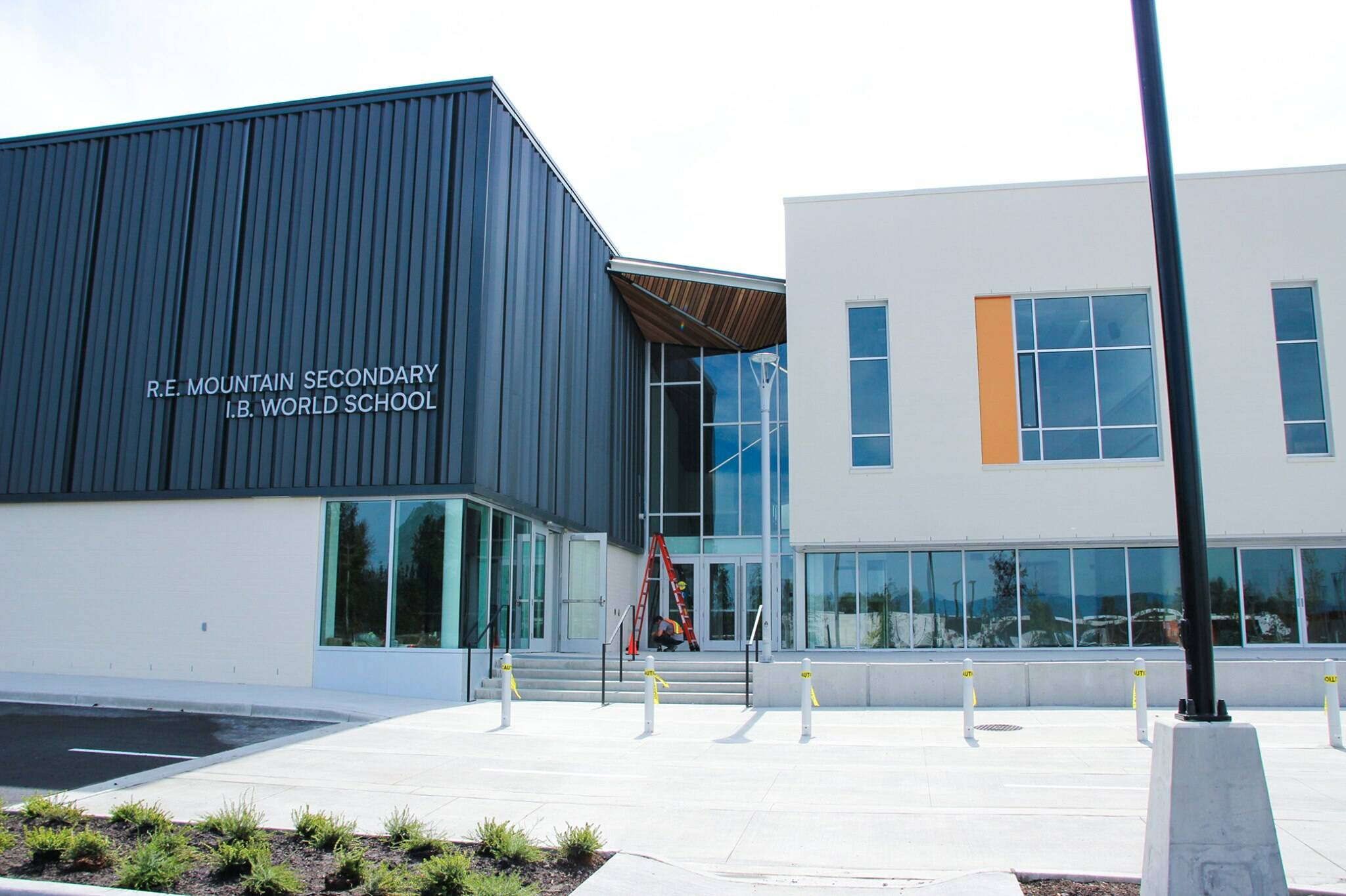 R.E. Mountain Secondary is one of the schools approaching capacity as hundreds of new students arrived in the district this year. (Langley School District)