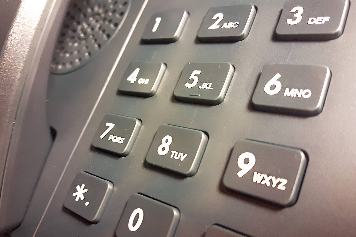 Police are warning the public to be aware of hang-up delay fraud. (Black Press file photo)