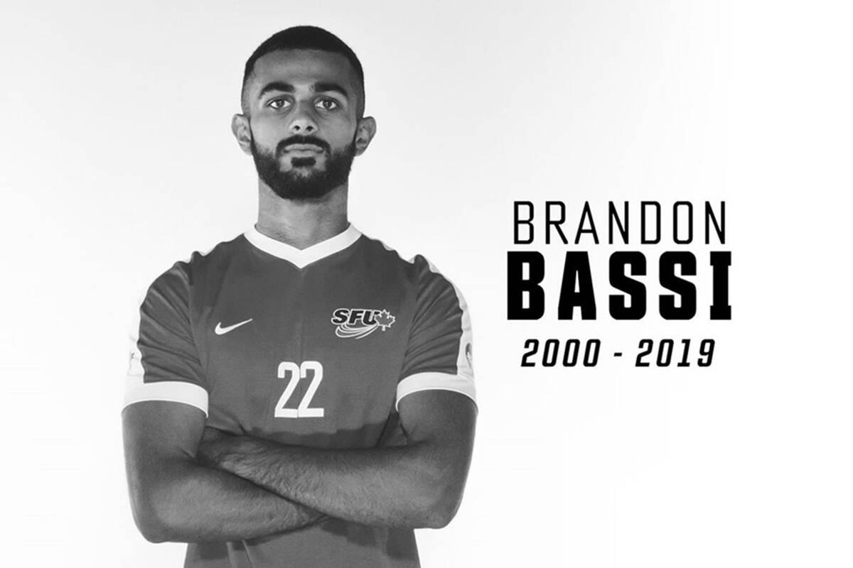 SFU soccer player Brandon Bassi, 19, was killed after a crash in Surrey. (Photo: SFU)