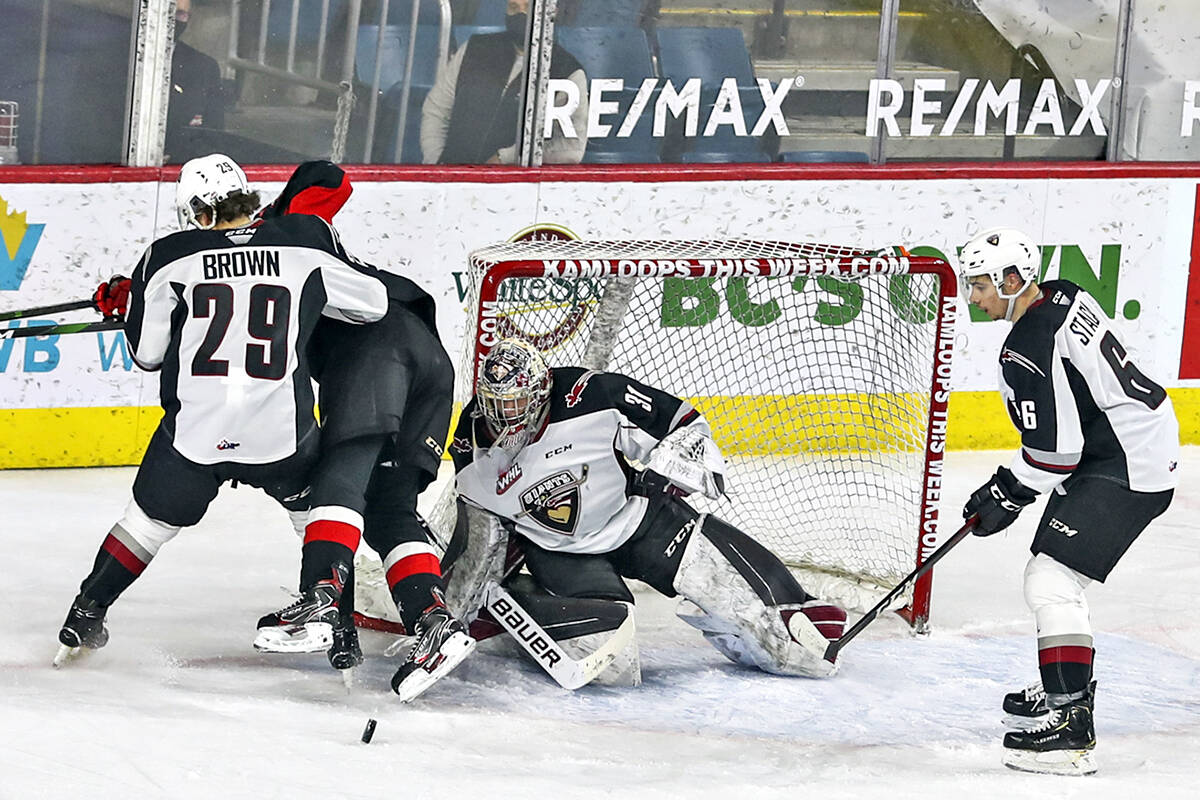 Giants netminder Drew Sim is headed to Regina, the team announced Wednesday, Oct. 13. (Vancouver Giants' Allen Douglas/Special to Langley Advance Times)