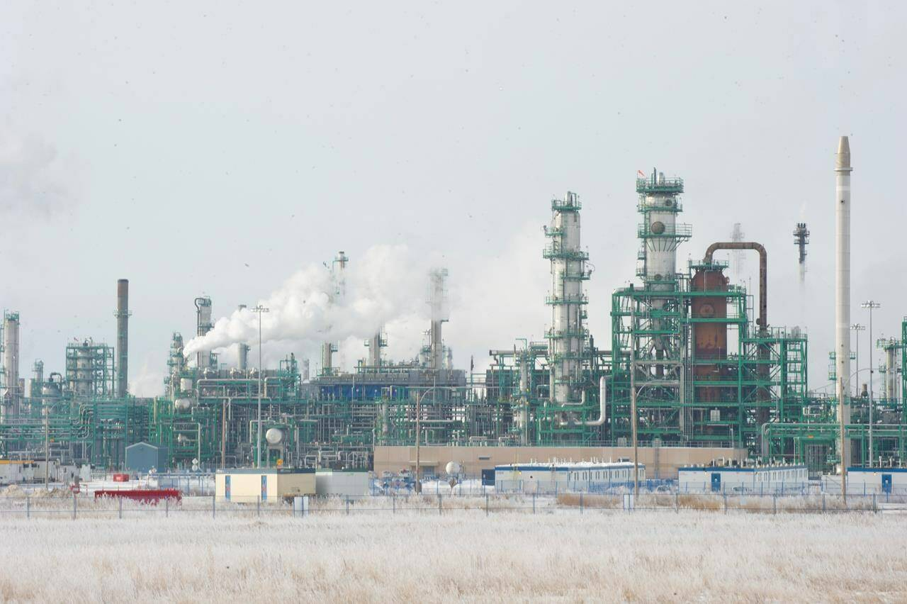 The Co-op Refinery is shown in Regina on Wednesday, Jan. 22, 2020. THE CANADIAN PRESS/Mark Taylor