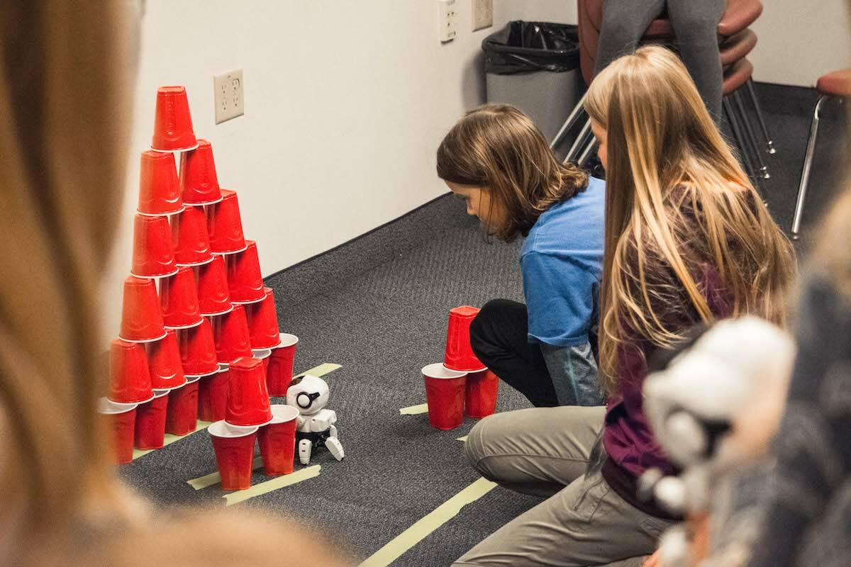 Students in grades 6-9 will learn how to code and program a robot at a one-day camp hosted by Trinity Western University in Langley. (TWU)