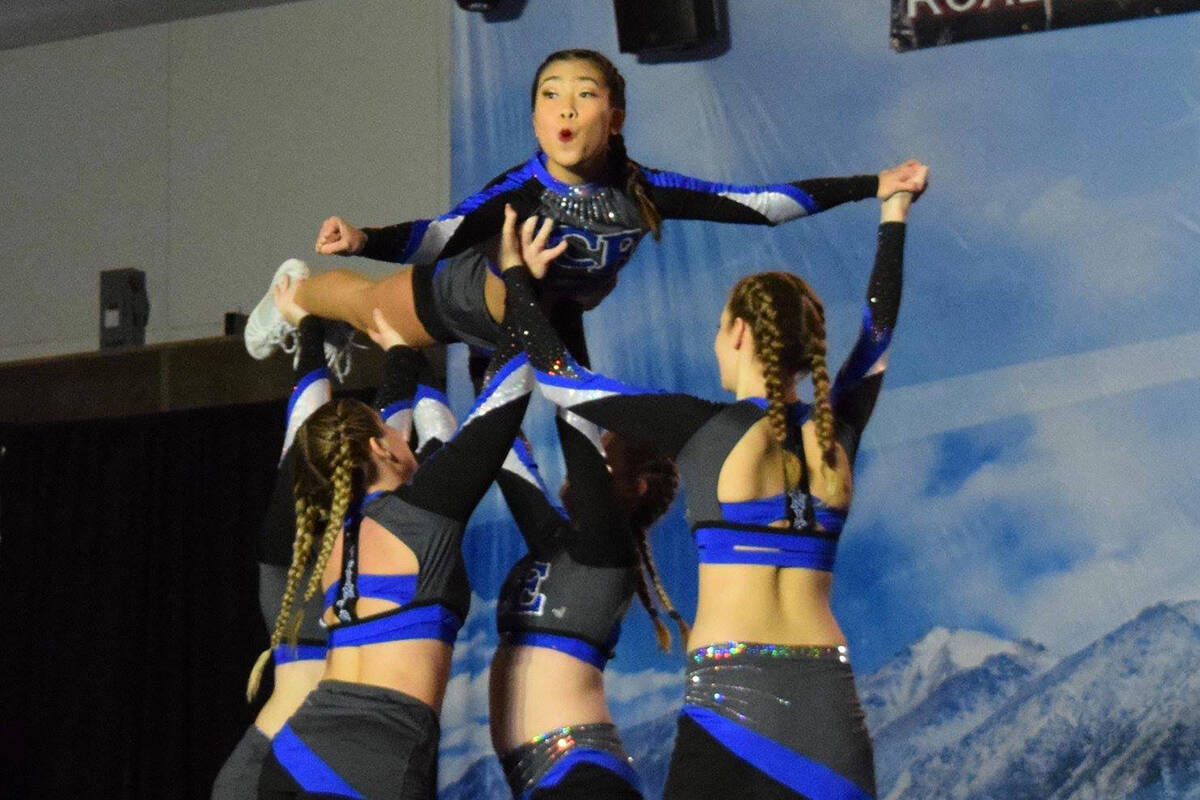 Infinity Cheer Elite cheerleaders competing in-person, two years ago (Infinity Cheer Elite/Special to The Star)