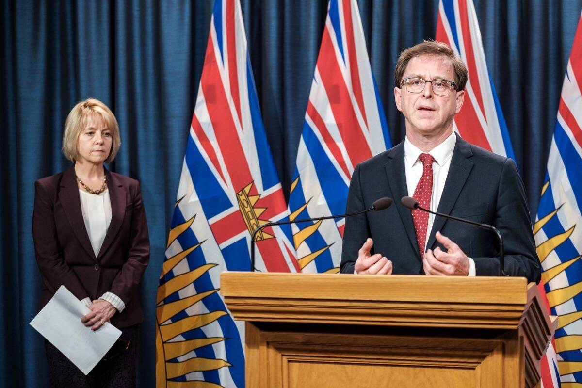 B.C. Health Minister Adrian Dix and provincial health officer Dr. Bonnie Henry have been working to contain COVID-19 transmission in Northern B.C. (B.C. government)