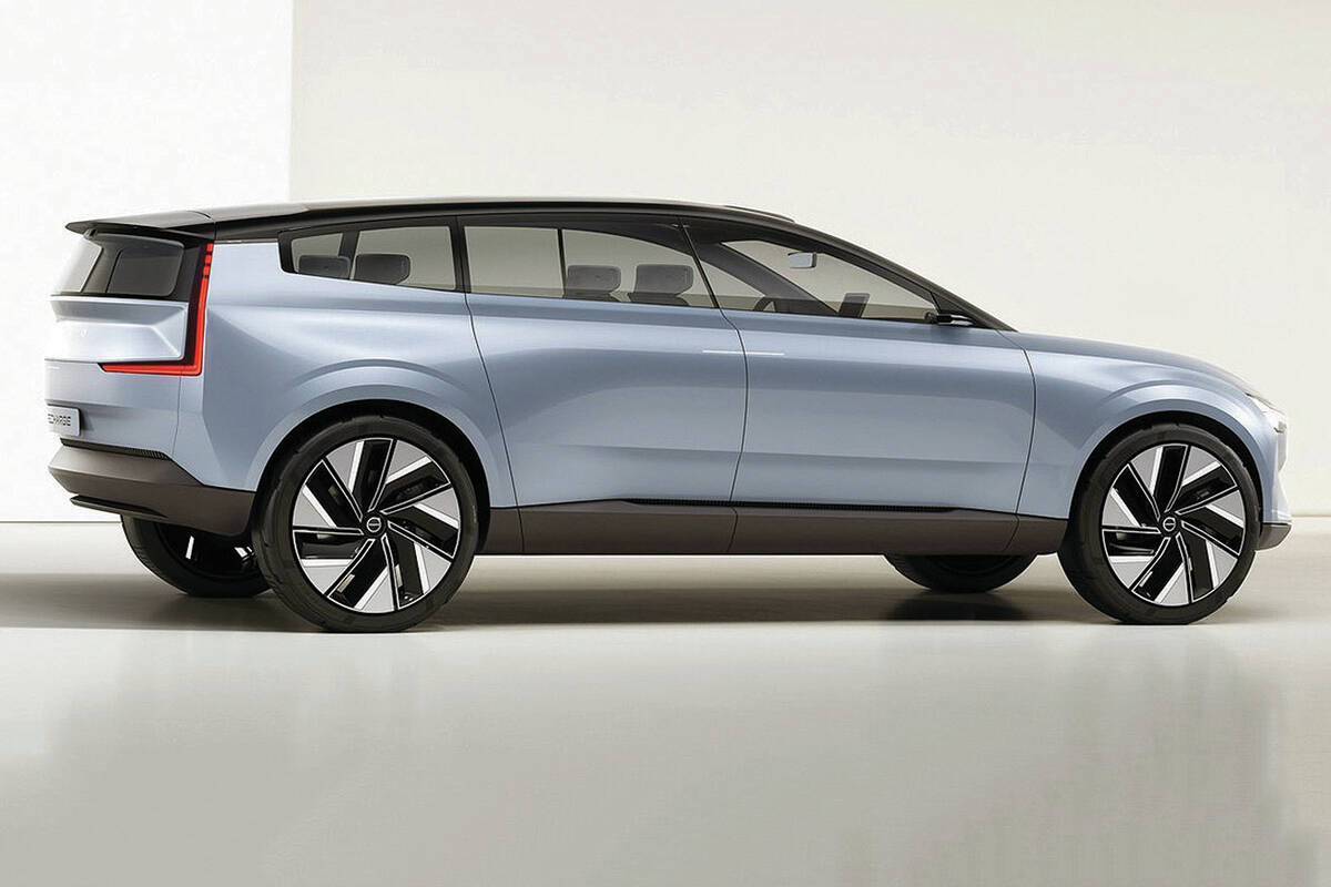 Volvo's wagon roots are showing in Concept Recharge, a battery-electric prototype that, for now, has no roots in reality. PHOTO: VOLVO