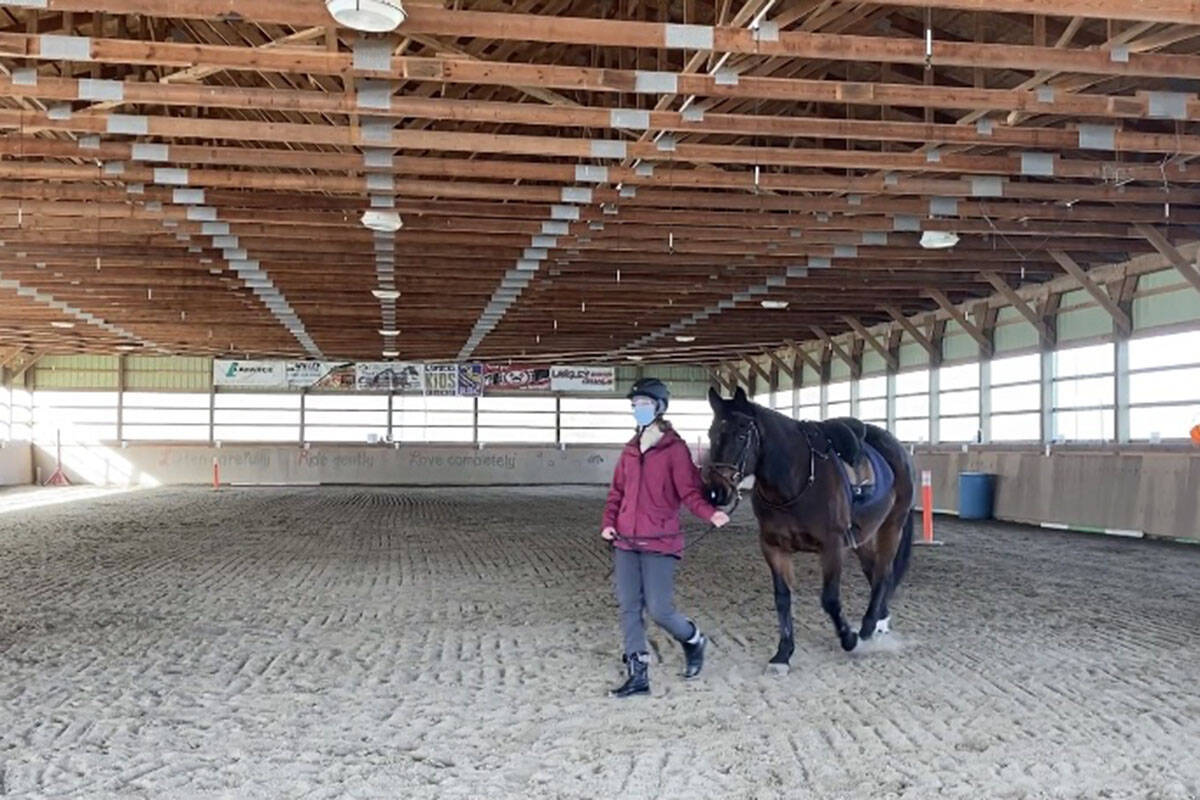 Riders taking part in equine therapy (Madison McKenzie/Aldergrove Star)