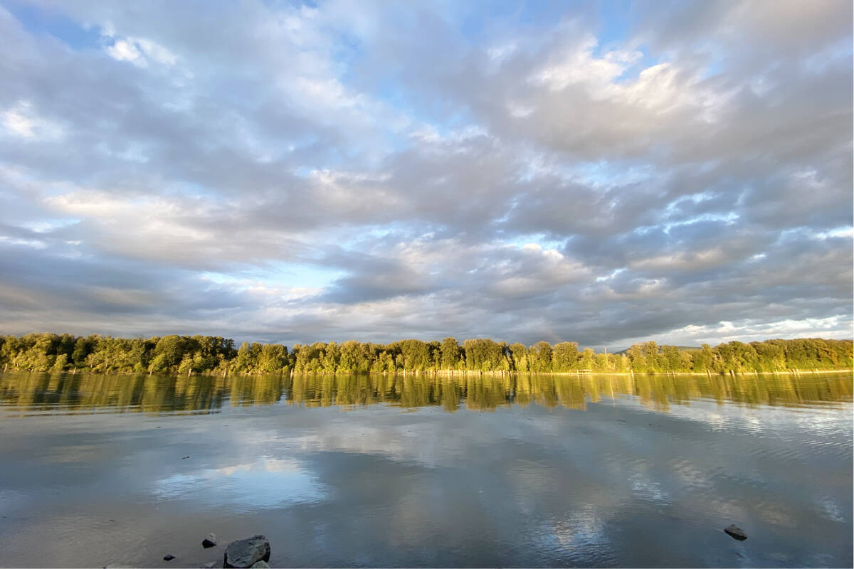 """Langley's Erin Lenko was taking part in a Girl Guides cleanup on a recent fall evening at the heritage area of Derby Reach Regional Park, when capturing this image. """"…couldn't resist snapping a photo of the gorgeous view we had,"""" Lenko said. (Special to Langley Advance Times)"""