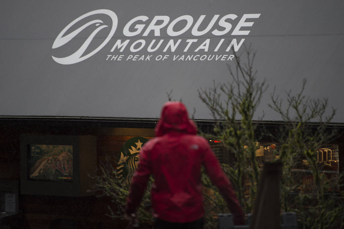 A employee is seen at Grouse Mountain in North Vancouver, B.C., Friday, Jan. 3, 2020. Grouse Mountain ski resort was recently purchased by B.C. based Northland Properties. THE CANADIAN PRESS/Jonathan Hayward