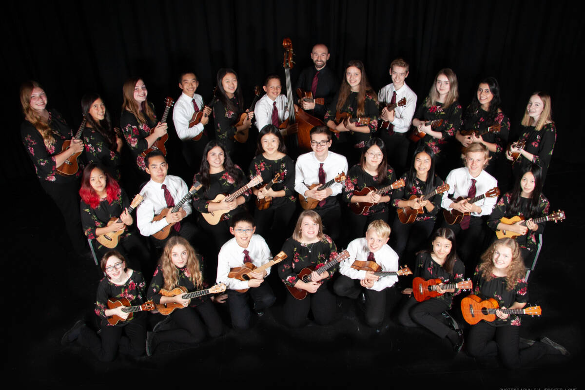 Langley Ukulele Ensemble host its first live concerts on Friday at the Bez Arts Hub. (Special to the Langley Advance Times)