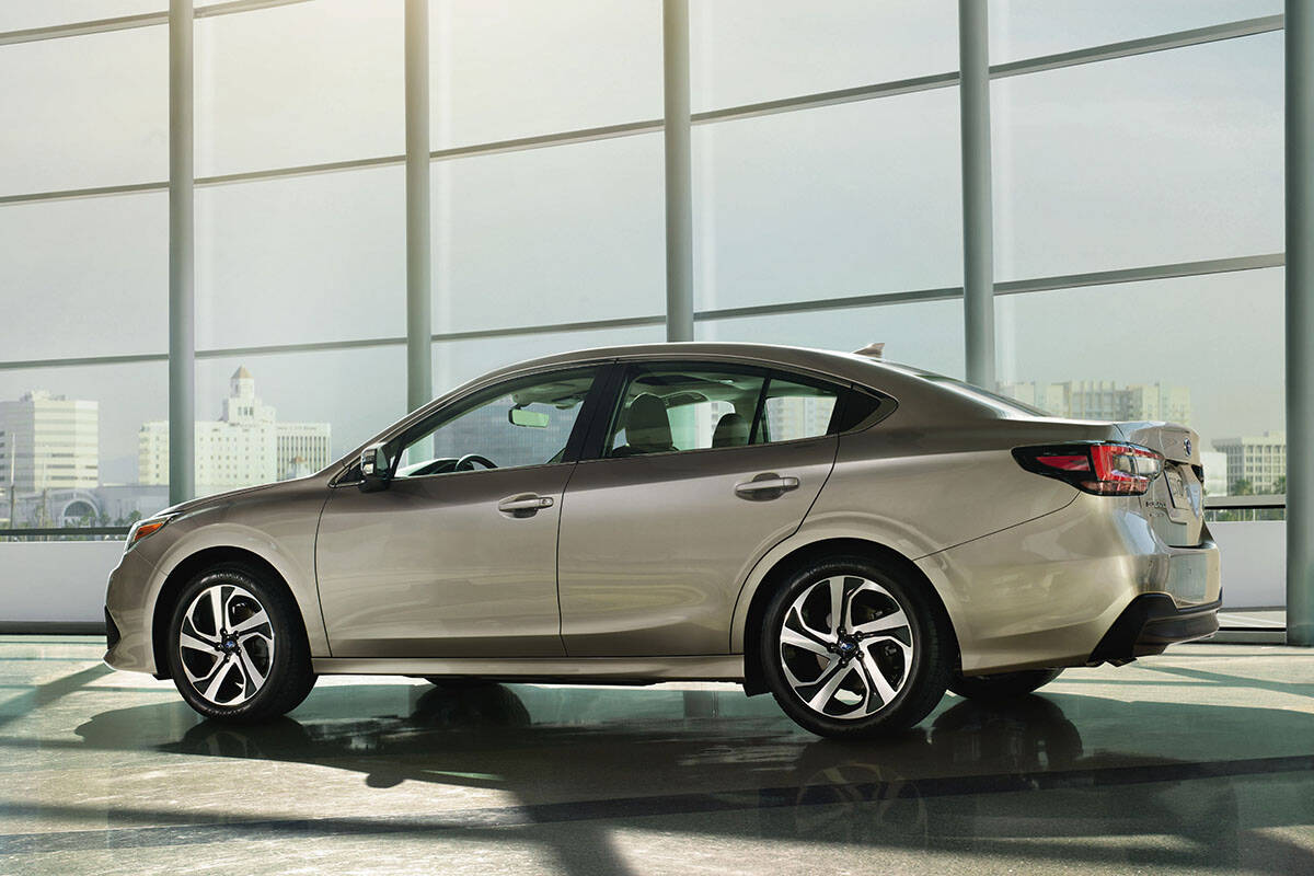 Aside from some subtle exterior styling changes, the Legacy — redesigned for the 2020 model year — looks much like the previous model. Continuing with tradition, the base price includes all-wheel-drive. PHOTO: SUBARU