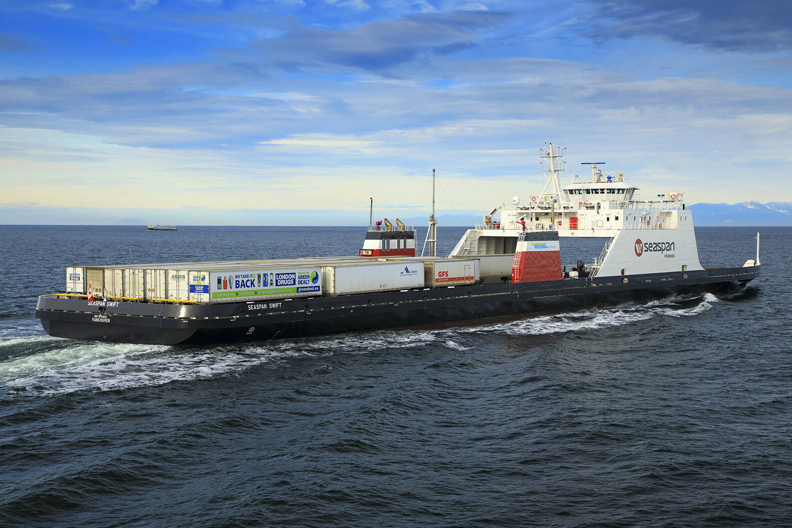 Seaspan Ferries has become the first Canadian marine company to pilot the use of renewable natural gas for its marine fleet. (Seaspan Ferries photo)