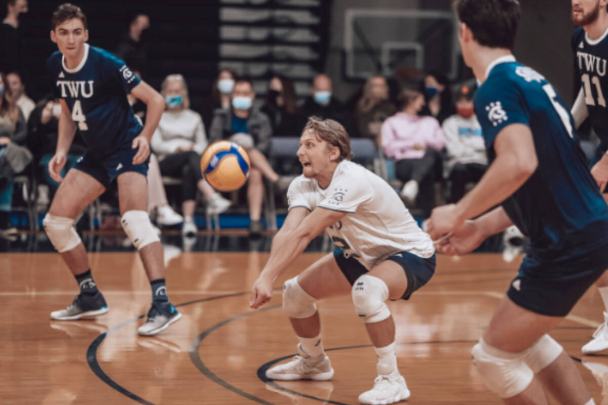 TWU Spartan men's volleyball team will be one of four participating in the Volleyball Showcase at LEC immediately after Christmas. (Michael Ezinga/Special to Langley Advance Times)