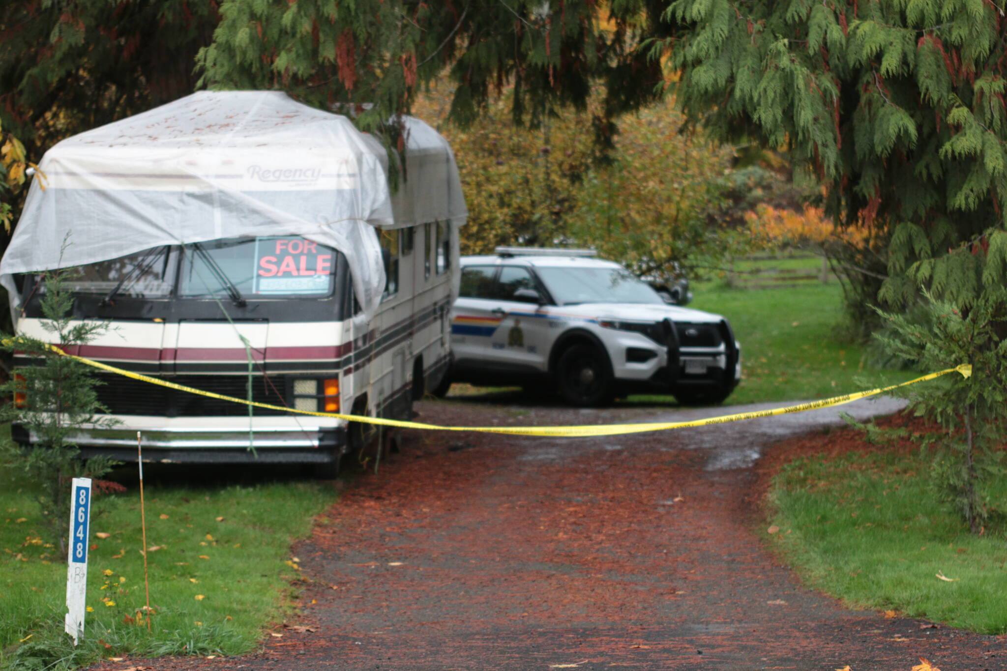 Police are investigating an alleged double homicide in Crofton. (Kevin Rothbauer/Citizen)