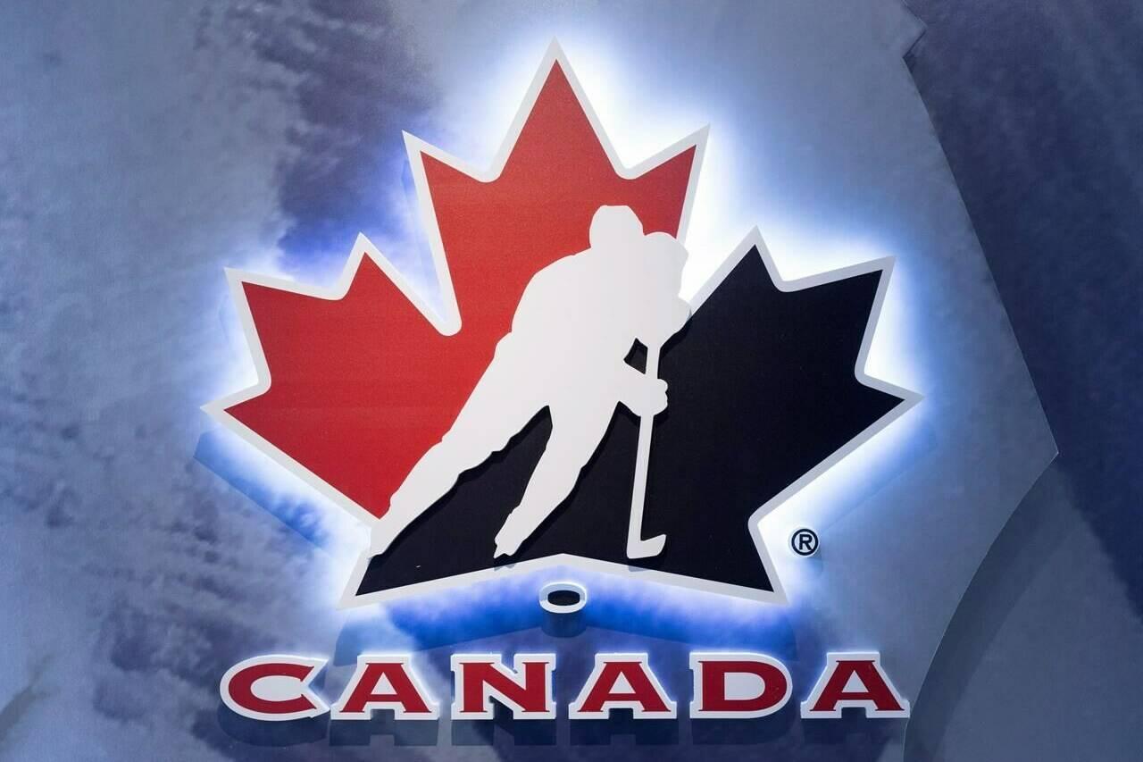 FILE – Hockey Canada logo at an event in Toronto on Wednesday Nov. 1, 2017. THE CANADIAN PRESS/Frank Gunn