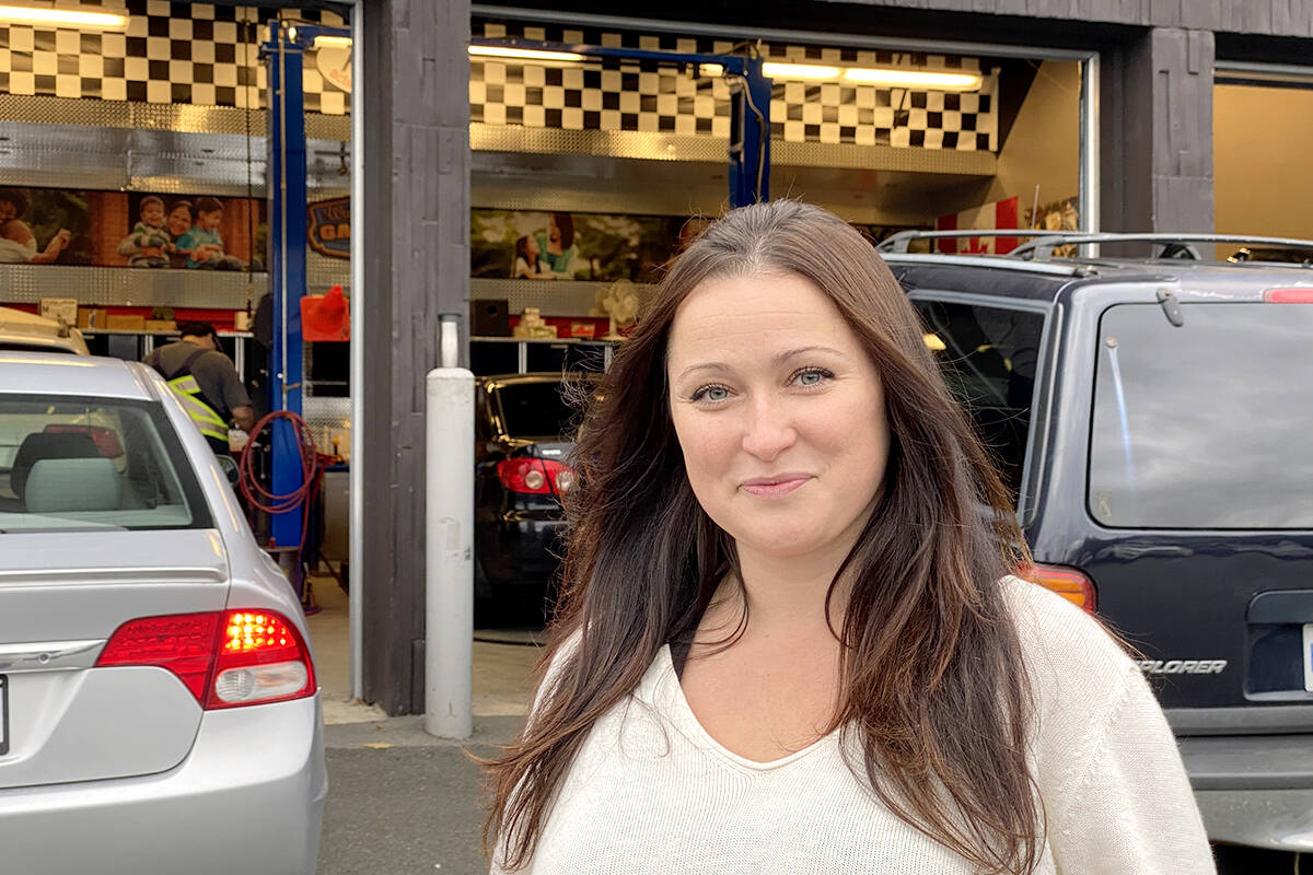 Leah Kwas, volunteer with Acts of Kindness. The mom once counted on the free moms oil change held at Church in the Valley. (Joti Grewal/Langley Advance Times)
