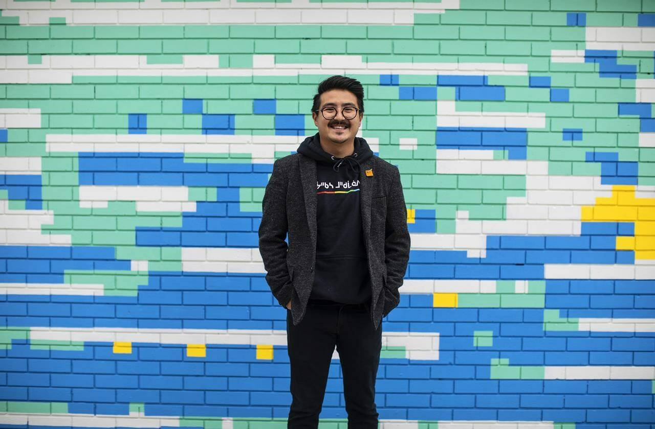 NDP MP Blake Desjarlais poses for a portrait in Edmonton, Monday, Oct. 18, 2021. THE CANADIAN PRESS/Jason Franson